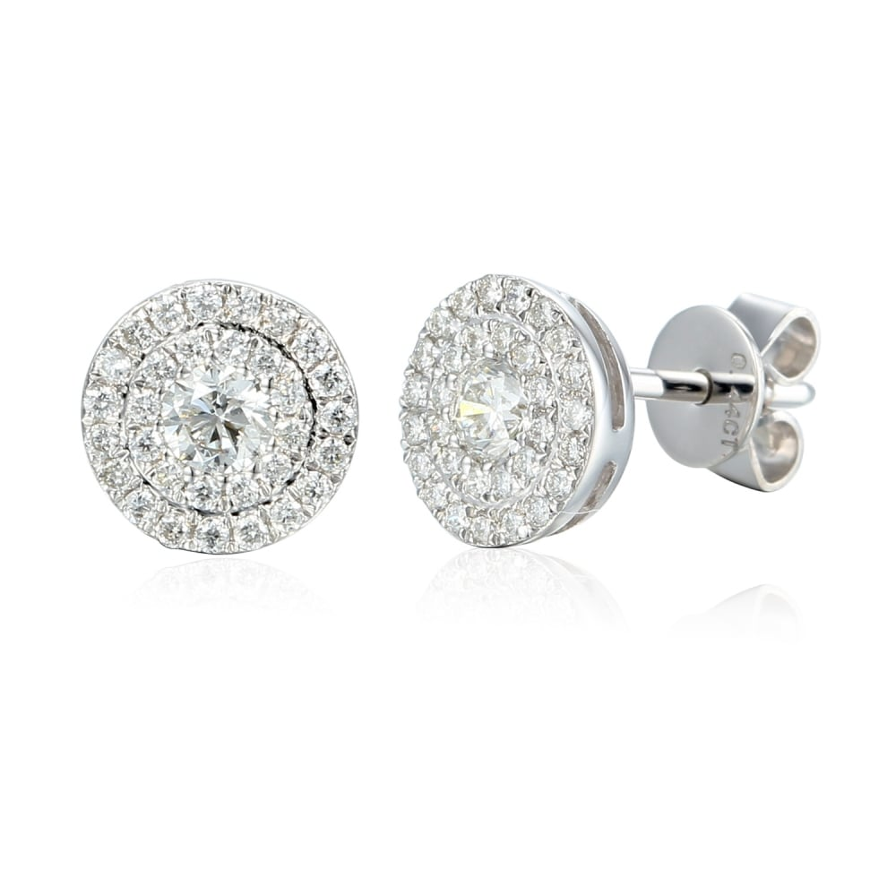 18ct White Gold 0.44ct Diamond Stud Earrings - Jewellery from David Mellor  Family Jewellers UK 7c51e96d6