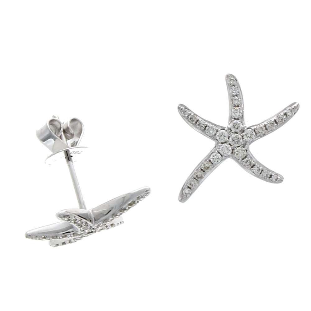 18ct White Gold Diamond Starfish Stud Earrings 0.32ct - Jewellery from  David Mellor Family Jewellers UK cab8abb73