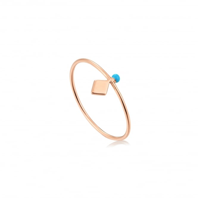 Ania Haie Connect The Dots Turquoise Enamel Stud Ring