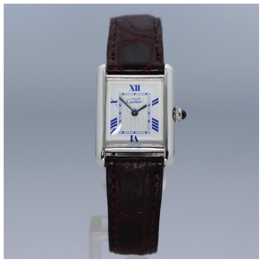4d42480d8d5 Cartier Must De Cartier Silver Quartz Ladies Watch 2416 - Watches ...