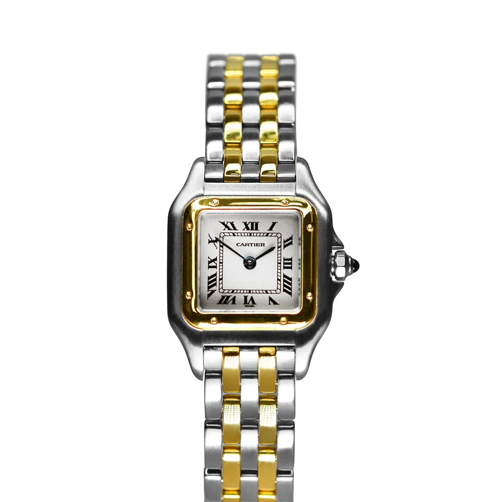 steel gold ladies vintage watches yellow cartier stainless watch cariter tank santos