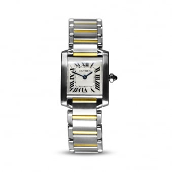 Cartier Steel & Yellow Gold Ladies Tank W51007Q4