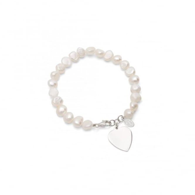 Claudia Bradby Allegra Pearl and Heart Bracelet