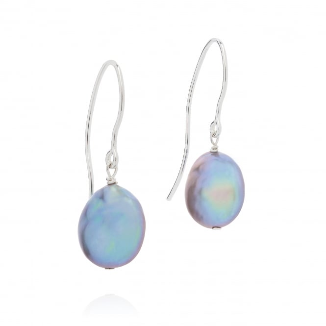 Claudia Bradby Bedruthan Silver Coin Pearl Earrings