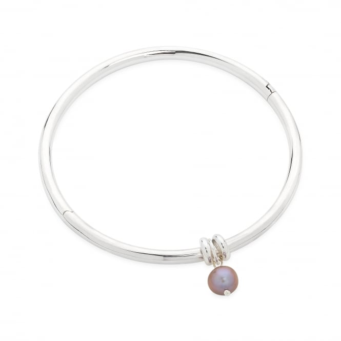 Claudia Bradby Essential Silver Pearl Bangle