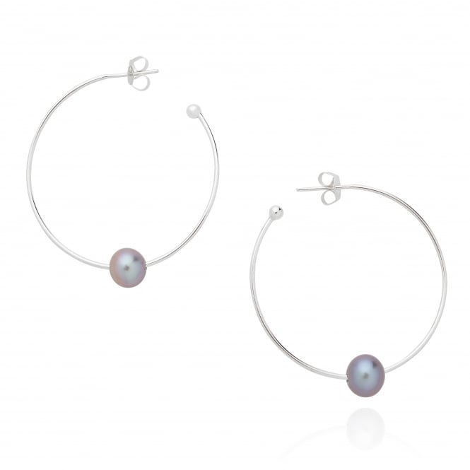 Claudia Bradby Essential Silver Pearl Earrings