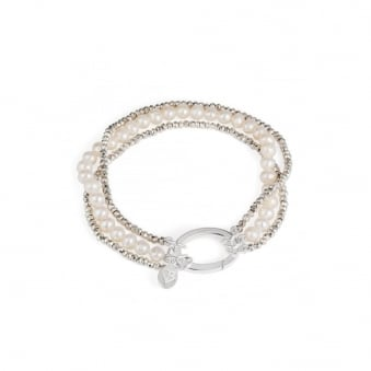 Claudia Bradby Lucia Couture Pearl and Pyrite Bracelet