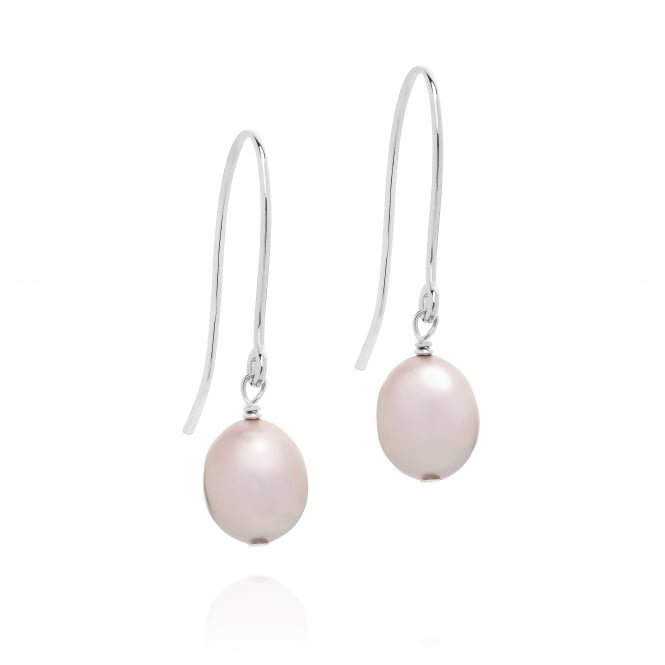 Claudia Bradby Pink Baroque Pearl Drop Earrings