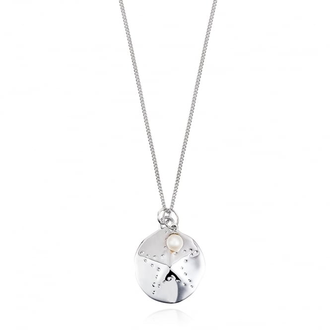Claudia Bradby Sand Dollar Long Silver Necklace