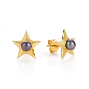 Claudia Bradby Star Gold Plated Stud Earrings
