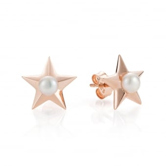 Claudia Bradby Star Rose Gold Plated Stud Earrings