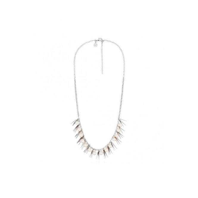 Claudia Bradby Tribal Silver and Pearl Necklace