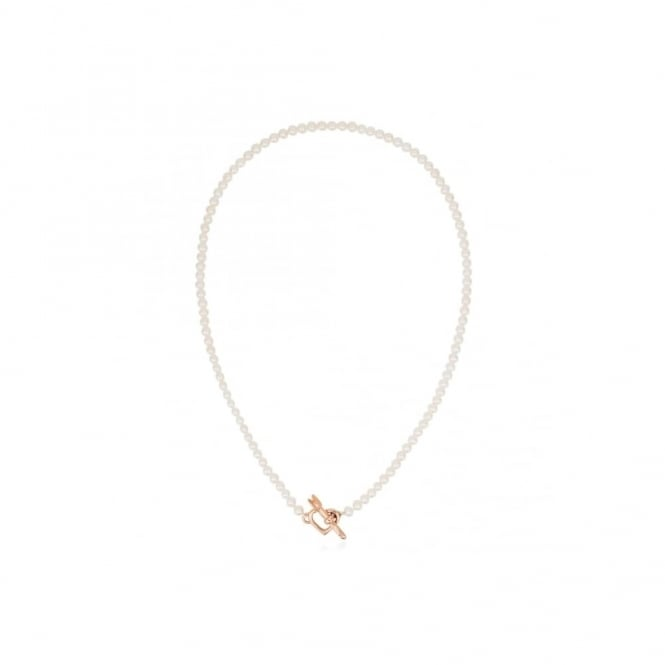 Claudia Bradby Valentina Rose Gold Plated Pearl Necklace