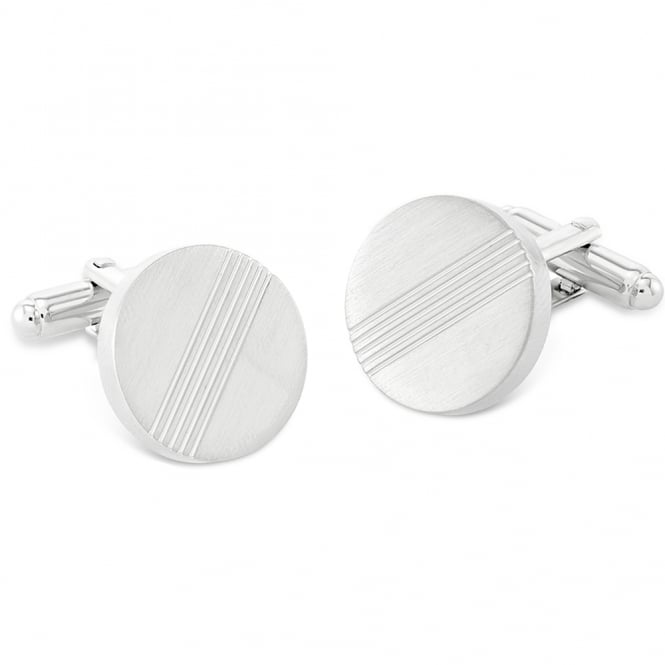 Duncan Walton Darwin Brushed Rhodium Cufflinks