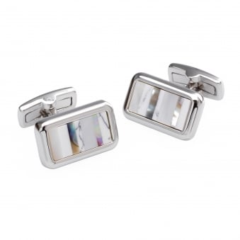 Duncan Walton Parks White Mother of Pearl Cufflinks