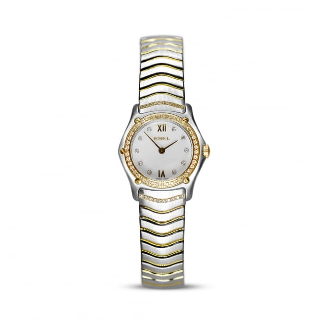 Ebel Classic Wave Diamond Steel & Yellow Gold Watch E1157F14