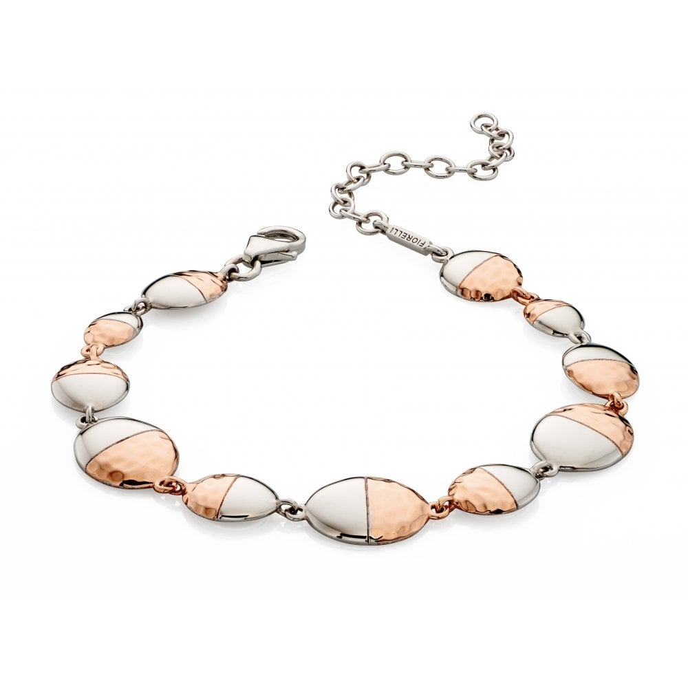 Fiorelli Rose Gold Hammered Oval Bracelet - Jewellery from David ... a6703e6a5b