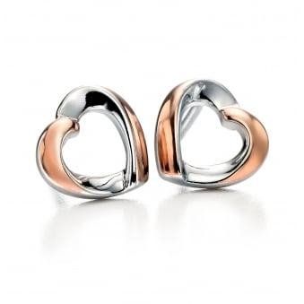 Fiorelli Silver Twist Heart Earrings