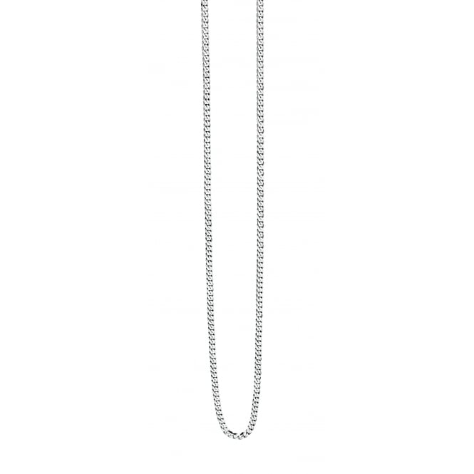 Fred Bennett Fred Bennet Steel Diamond Cut Curb Necklace