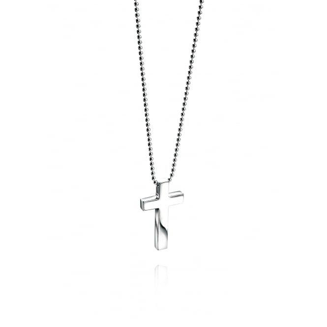 Fred Bennett Silver Cross & Chain