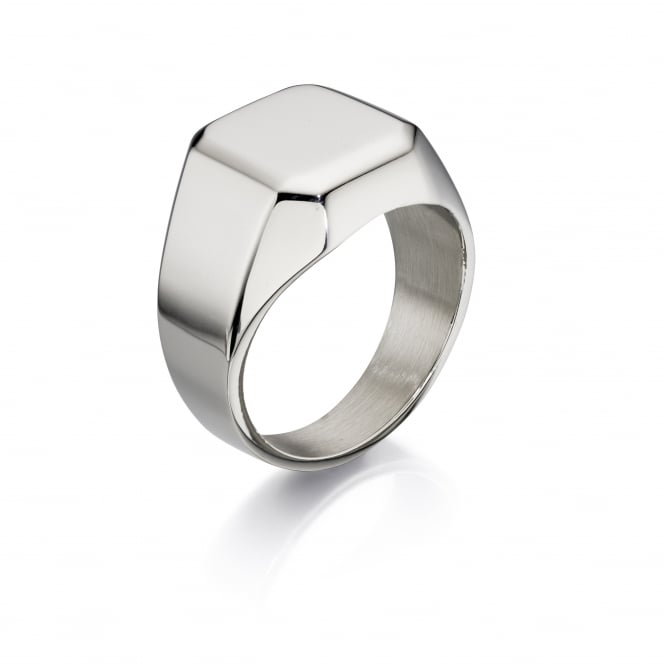 Fred Bennett Steel Large Plain Signet Ring