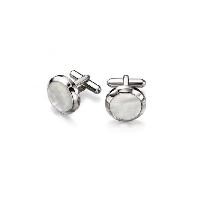 Fred Bennett Steel Mother of Pearl Cufflinks