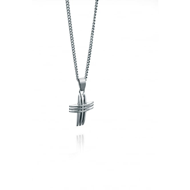 Fred Bennett Steel Triple Cross Pendant