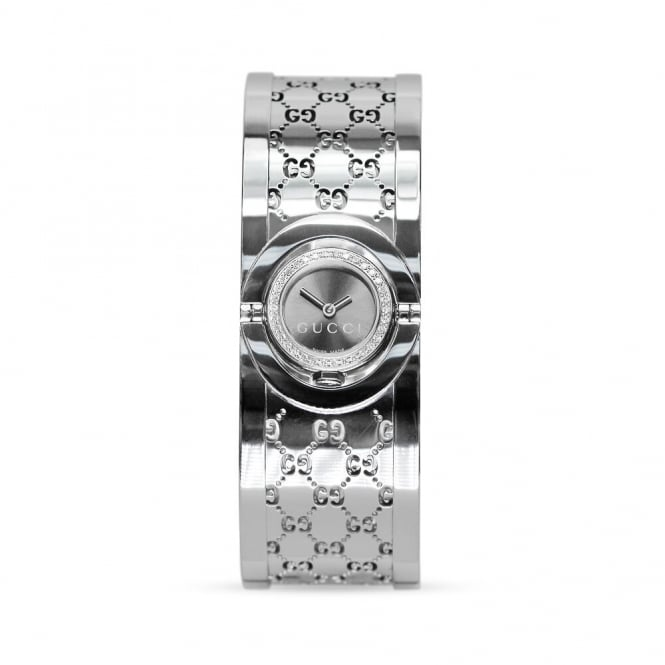 Gucci Twirl Diamond Bezel Ladies Watch