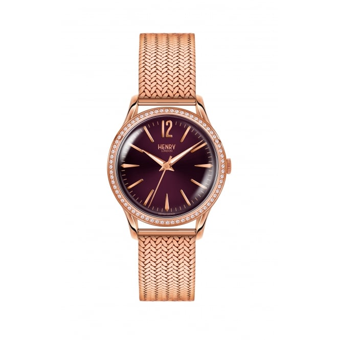 Henry London Hampstead Rose Gold Ladies Watch