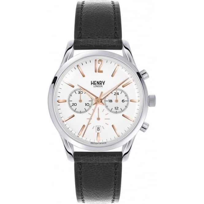 Henry London - Highgate Chronograph Leather Strap Watch