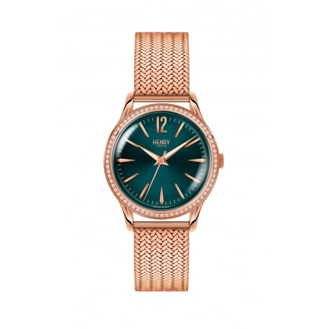 Henry London Stratford Rose Gold Mesh Bracelet Ladies Watch