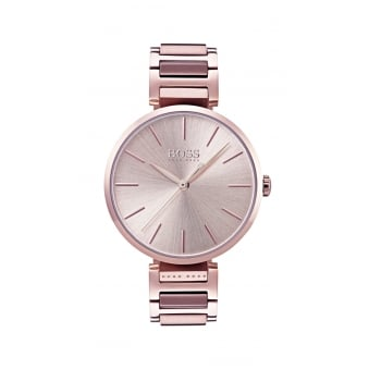 Hugo Boss Allusion Carnation Gold Steel Ladies Watch