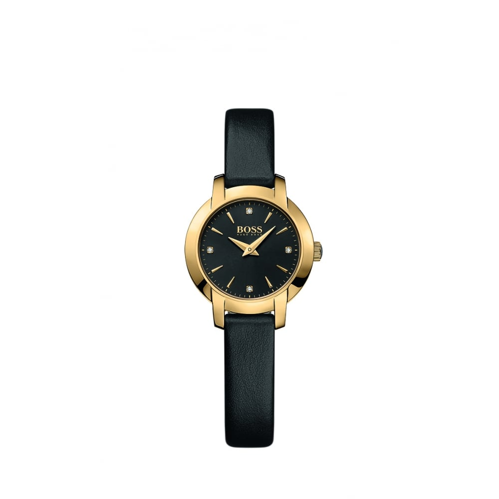 Ladies Success Gold Plated Leather Strap Watch