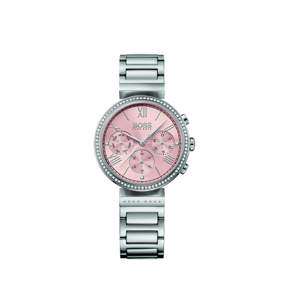 13619368265e BOSS Watches Hugo Boss Classic Women Sport Pink Dial Steel Watch ...
