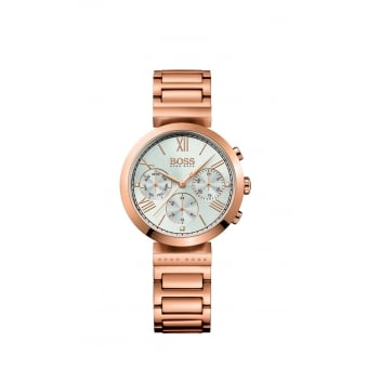Hugo Boss Classic Women Sport Rose Gold Plated Ladies Watch