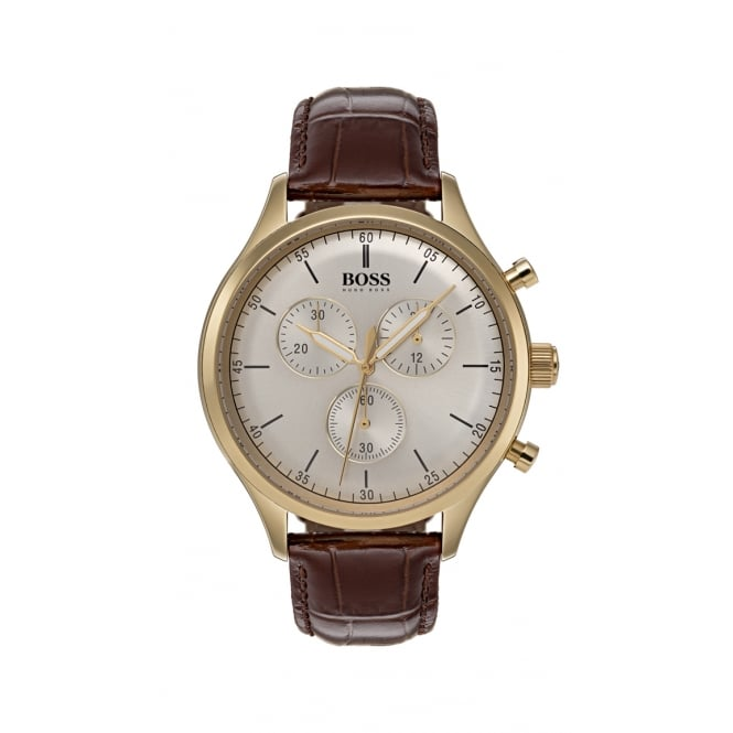 Hugo Boss Companion Thin Gold Plated Chronograph Mens Watch