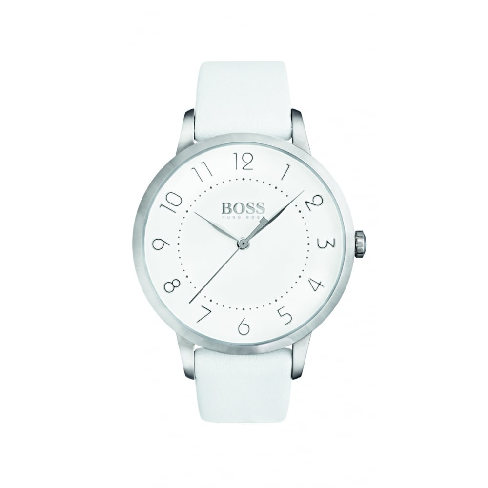 a1f6b346 Hugo Boss Eclipse Stainless Steel Ladies Leather Strap Watch