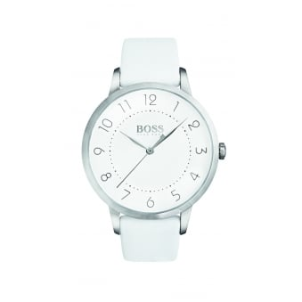 Hugo Boss Eclipse Stainless Steel Ladies Leather Strap Watch
