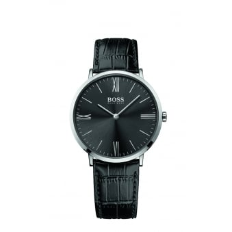 Hugo Boss Jackson Men's Stainless Steel Leather Strap Watch