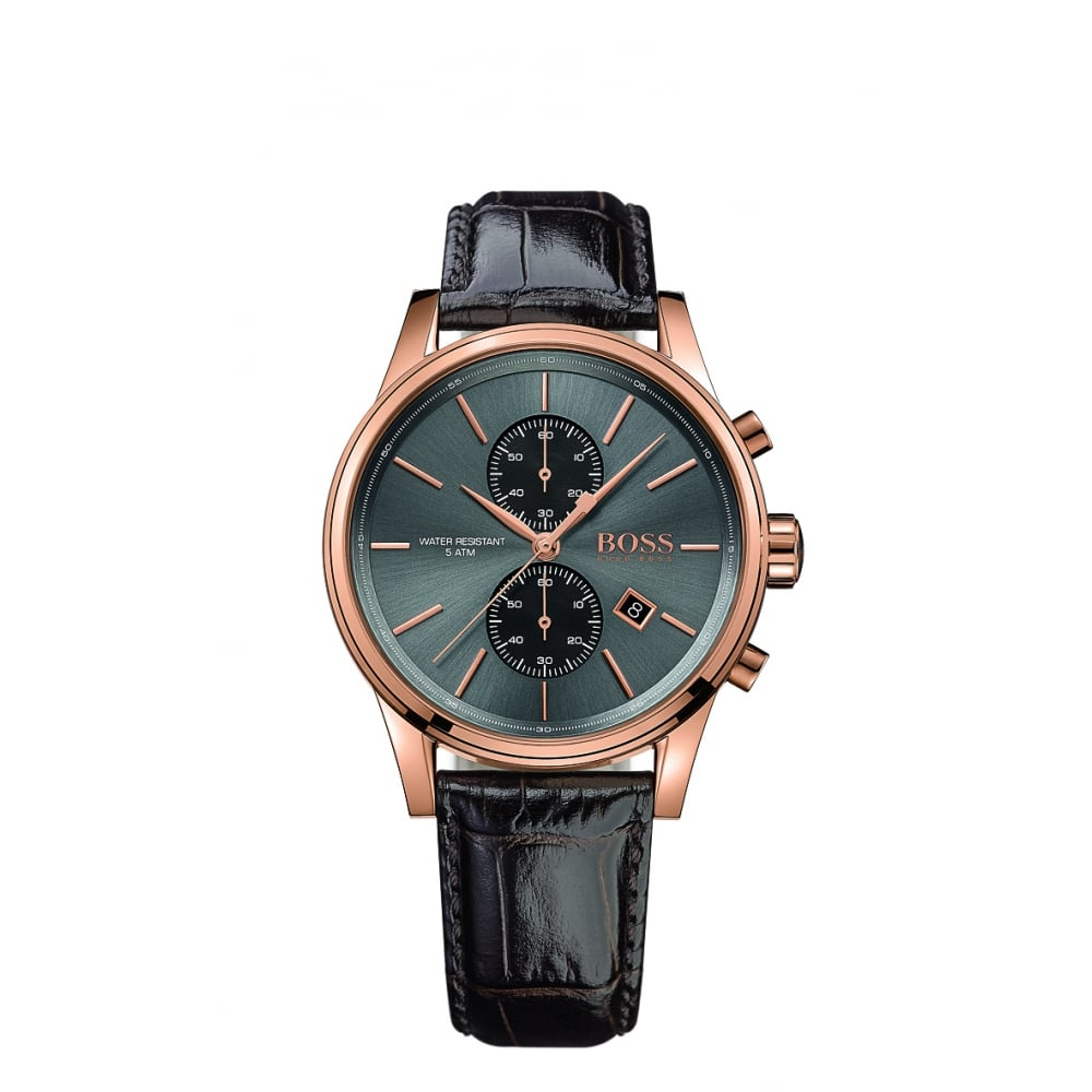 Hugo Boss Jet Men s Rose Gold Plated Chronograph Watch 76dd086bcc83