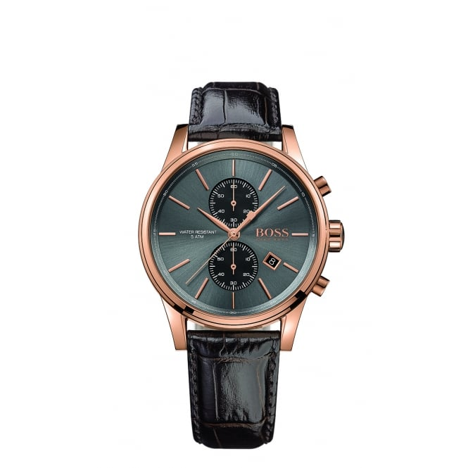 Hugo Boss Jet Men's Rose Gold Plated Chronograph Watch