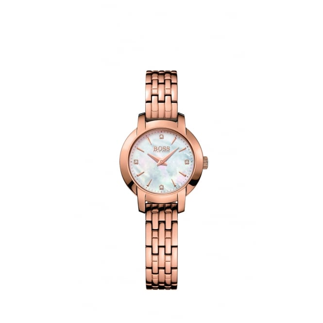 Hugo Boss Ladies Success Rose Gold Plate Steel Watch
