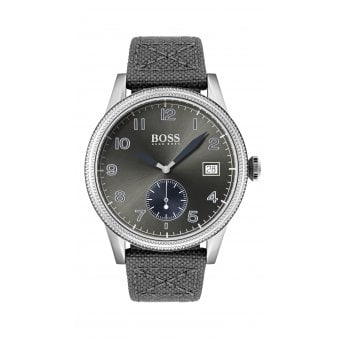 c0869239 Hugo Boss Legacy Canvas & Leather Strap Mens Watch