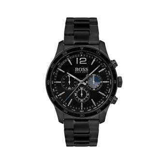 Hugo Boss The Professional Black Steel Mens Chronograph Watch