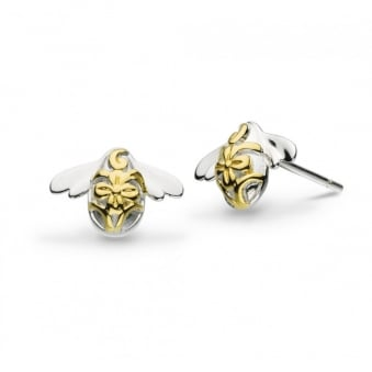 Kit Heath Blossom Bumblebee Gold Plated Stud Earrings