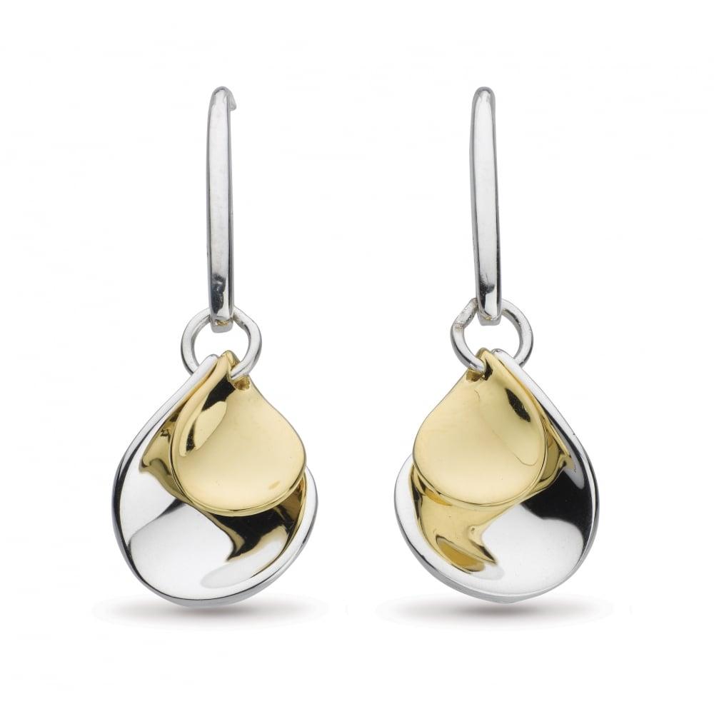 Kit Heath Kit Heath Blossom Double Petal Gold Plate Drop Earrings