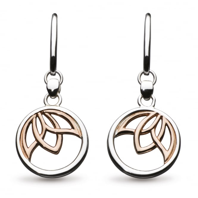 Kit Heath Blossom Lotus Rose Gold Plate Drop Earrings