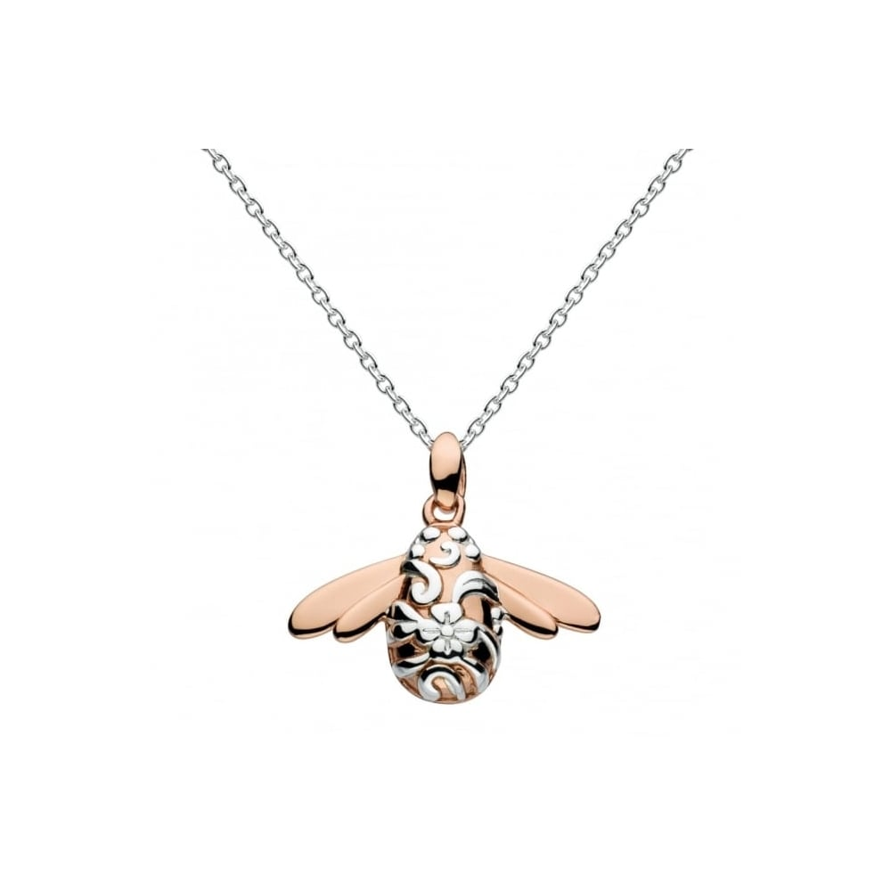 drop honey bee with necklace silver