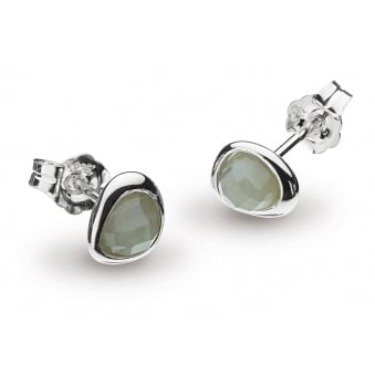 Kit Heath Coast Pebble Labradorite Mini Stud Earrings