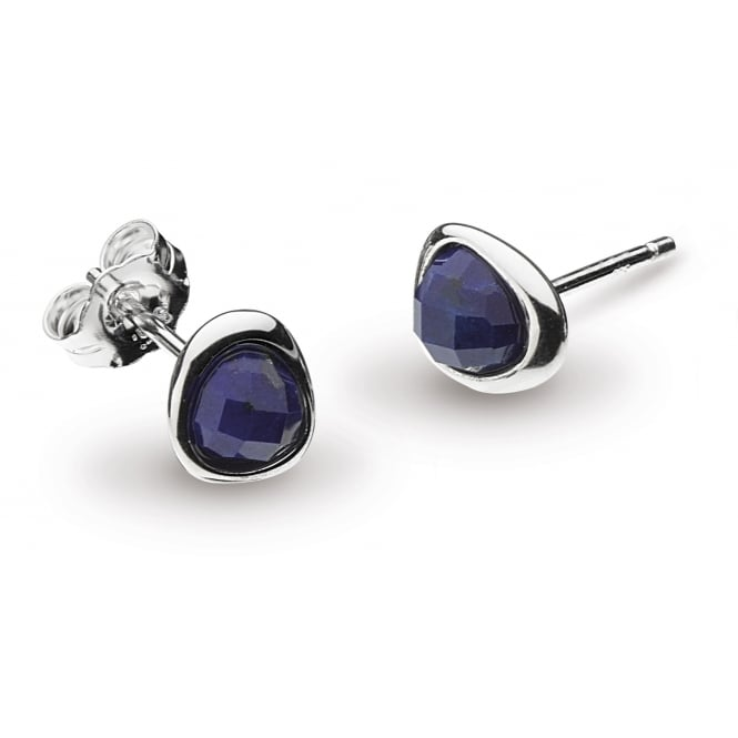 Kit Heath Coast Pebble Lapis Lazuli Mini Stud Earrings